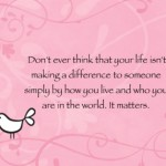 making a difference card